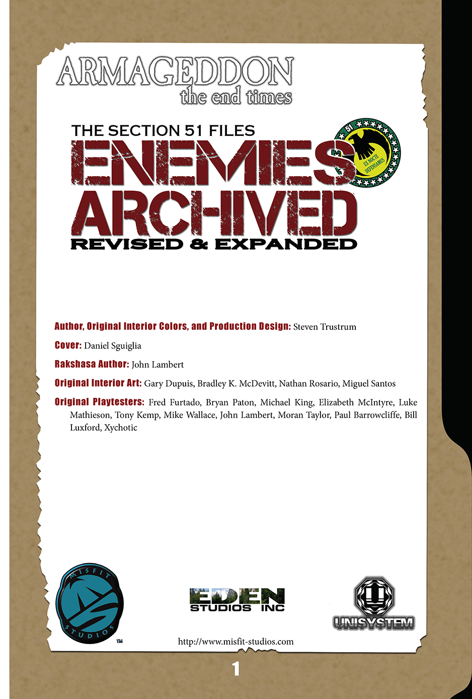 Armageddon: Enemies Archived, Revised & Expanded