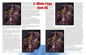 Sample page spread with white page background and dark stock image background